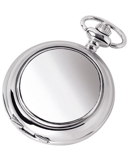 Plain Quartz Pocket Watch with Chain